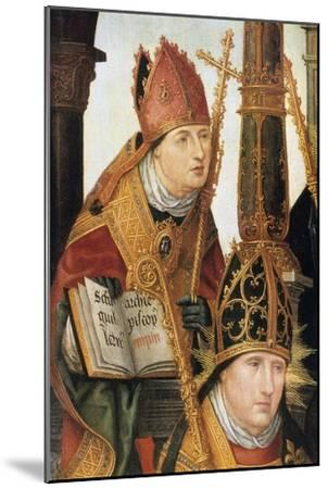 Annunciation (Detail), 1516-1517-Jean Bellegambe-Mounted Premium Giclee Print