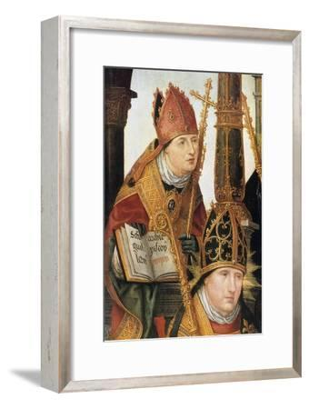 Annunciation (Detail), 1516-1517-Jean Bellegambe-Framed Giclee Print