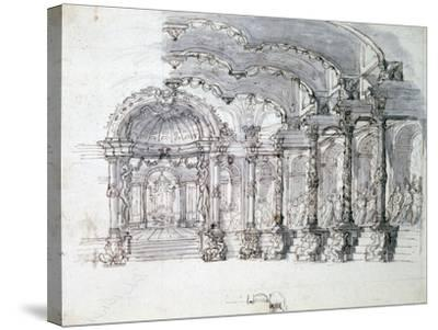 Set Design for the Opera 'Proserpine, C1680-Jean Berain-Stretched Canvas Print