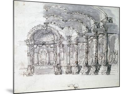 Set Design for the Opera 'Proserpine, C1680-Jean Berain-Mounted Giclee Print