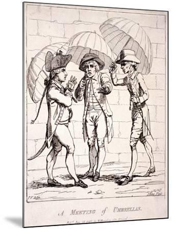 A Meeting of Umbrellas, 1782-James Gillray-Mounted Giclee Print