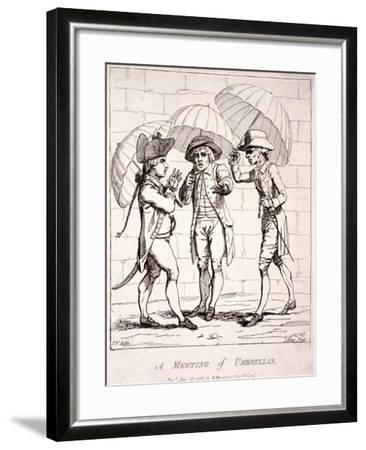 A Meeting of Umbrellas, 1782-James Gillray-Framed Giclee Print