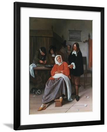 A Man Offering an Oyster to a Woman, C1660-1665-Jan Steen-Framed Giclee Print