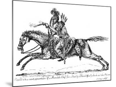 Mameluke Chief, 1798-James Gillray-Mounted Giclee Print