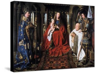 The Madonna of Canon Van Der Paele, 1436-Jan van Eyck-Stretched Canvas Print