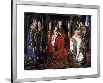 The Madonna of Canon Van Der Paele, 1436-Jan van Eyck-Framed Giclee Print