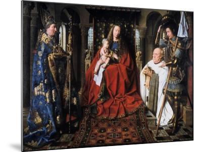 The Madonna of Canon Van Der Paele, 1436-Jan van Eyck-Mounted Giclee Print