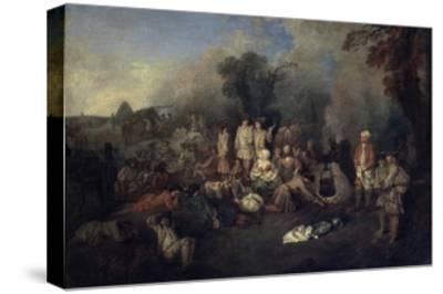 Bivouac, C1710-Jean-Antoine Watteau-Stretched Canvas Print