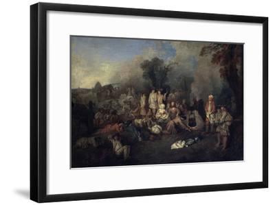 Bivouac, C1710-Jean-Antoine Watteau-Framed Giclee Print