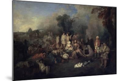 Bivouac, C1710-Jean-Antoine Watteau-Mounted Giclee Print