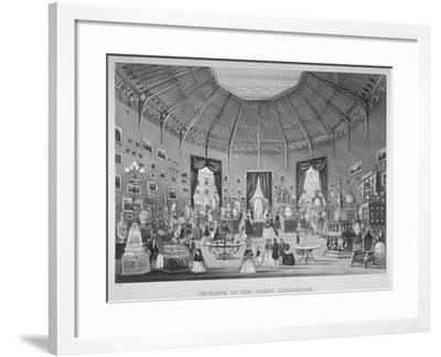 The Great Exhibition, Hyde Park, Westminster, London, 1851-Jean-Marie Chavanne-Framed Giclee Print