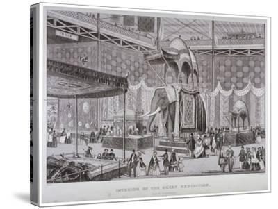 The Great Exhibition, Hyde Park, Westminster, London, 1851-Jean-Marie Chavanne-Stretched Canvas Print
