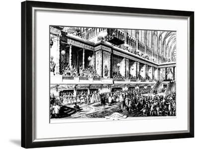 The Coronation of Louis XVI of France, 1775-Jean-Michel Moreau-Framed Giclee Print