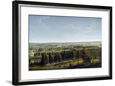 Palace Park as Seen from the Gatchina Palace, 1790S-Johann Jakob Mettenleiter-Framed Giclee Print