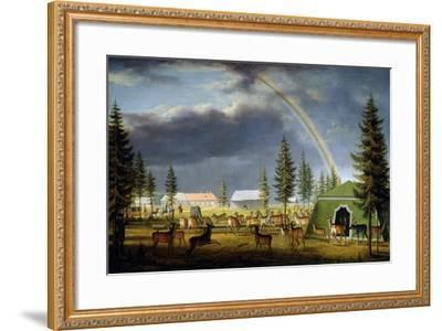 The Menagerie in the Gatchina Palace Park, 1792-Johann Jakob Mettenleiter-Framed Giclee Print
