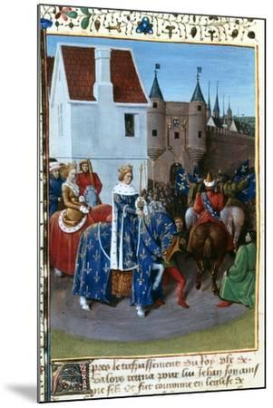 Entry of John II to Paris, 14th Century, (1455-146)-Jean Fouquet-Mounted Giclee Print