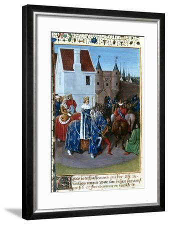 Entry of John II to Paris, 14th Century, (1455-146)-Jean Fouquet-Framed Giclee Print