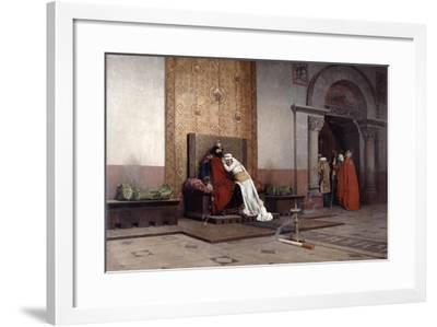 The Excommunication of Robert the Pious, 1875-Jean-Paul Laurens-Framed Giclee Print