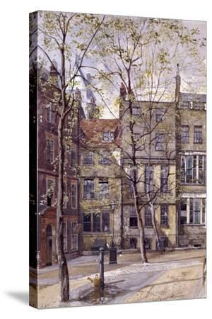 Inner Temple, London, 1880-John Crowther-Stretched Canvas Print
