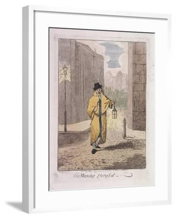 The Morning Herald' from Cries of London, 1826-John Henry Lynch-Framed Giclee Print