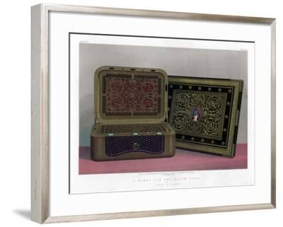 A Money Box and Album Cover, 19th Century-John Burley Waring-Framed Giclee Print