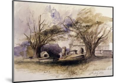 The Church, Bettws-Y-Coed, 1850, Bettws-Y-Coed, Gywnedd, Wales-John Gilbert-Mounted Giclee Print