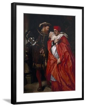 Ego Et Rex Meus, 1888; King Henry VIII and Cardinal Wolsey-John Gilbert-Framed Giclee Print