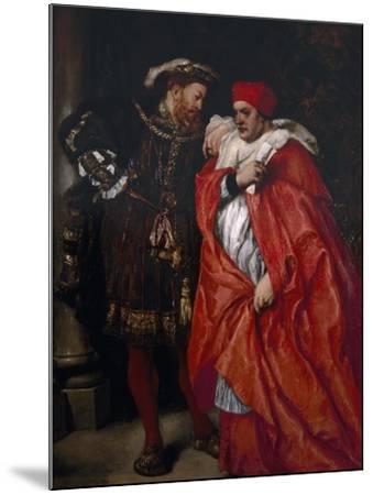 Ego Et Rex Meus, 1888; King Henry VIII and Cardinal Wolsey-John Gilbert-Mounted Giclee Print