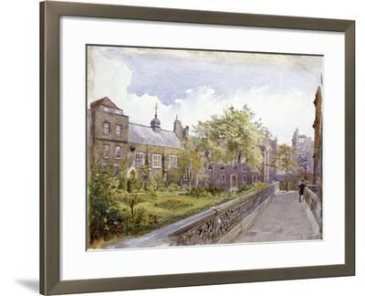 View of the Staple Inn and Garden, London, 1882-John Crowther-Framed Giclee Print