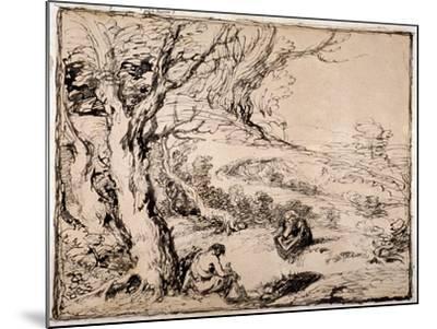 Timon and Apemantus, 1883-John Gilbert-Mounted Giclee Print