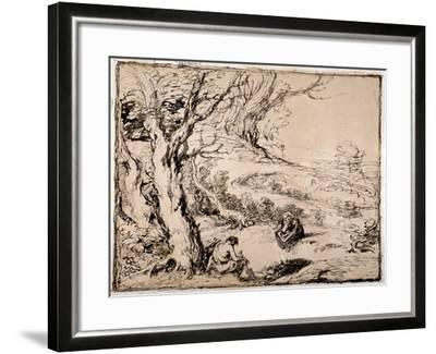 Timon and Apemantus, 1883-John Gilbert-Framed Giclee Print