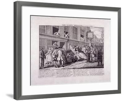 The Lady's Disaster, 1747-John June-Framed Giclee Print