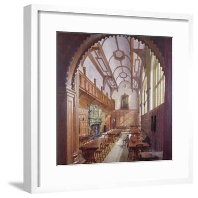 Great Hall, Charterhouse, London, 1885-John Crowther-Framed Giclee Print
