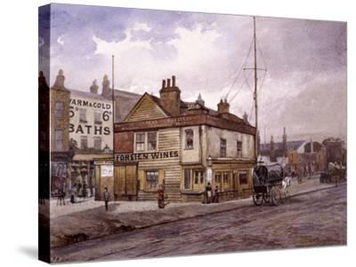Vine Tavern, Mile End Road, Stepney, London, (C1883)-John Crowther-Stretched Canvas Print