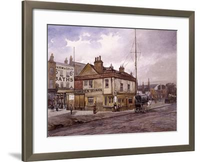 Vine Tavern, Mile End Road, Stepney, London, (C1883)-John Crowther-Framed Giclee Print