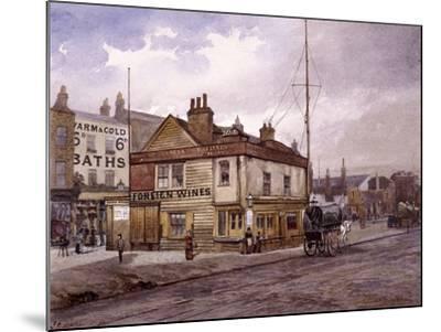 Vine Tavern, Mile End Road, Stepney, London, (C1883)-John Crowther-Mounted Giclee Print