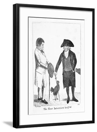 The First Interview in 1786' Between Deacon Brodie and George Smith, 1788-John Kay-Framed Giclee Print
