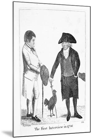 The First Interview in 1786' Between Deacon Brodie and George Smith, 1788-John Kay-Mounted Giclee Print