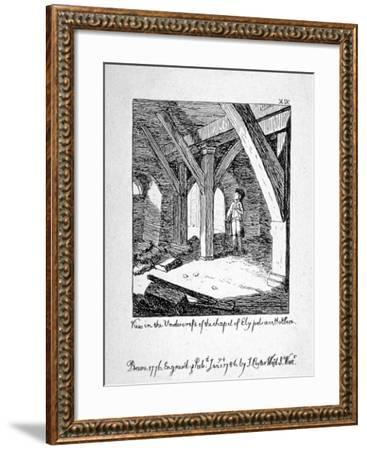 View in the Undercroft of the Church of St Etheldreda, Ely Place, Holborn, London, 1786-John Carter-Framed Giclee Print