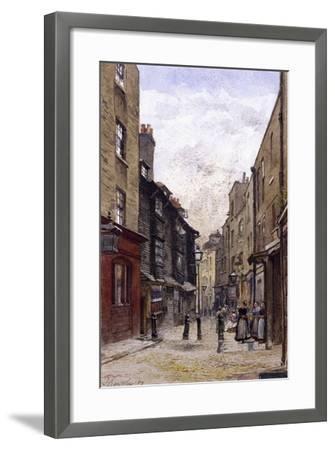Peter's Lane, Clerkenwell, London, 1880-John Crowther-Framed Giclee Print