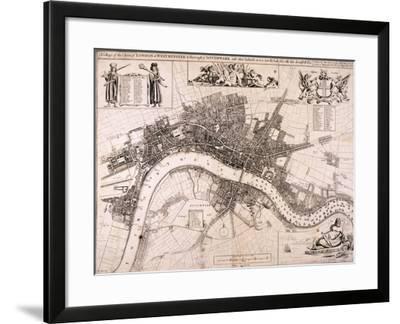 Map of London, C1680-John Oliver-Framed Giclee Print