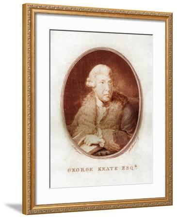 George Keate, Author, Painter and Friend of Voltaire, 1781-John Keyse Sherwin-Framed Giclee Print