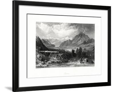 Lucerne, Central Switzerland, 19th Century-John Cousen-Framed Giclee Print