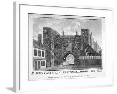 View of St John's Gate, Clerkenwell, London, C1790-John Peltro-Framed Giclee Print
