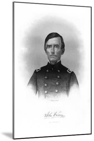 Colonel John W Lowe, American Soldier-John A O'Neill-Mounted Giclee Print
