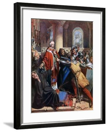 Death of Becket, 1170-John Cross-Framed Giclee Print