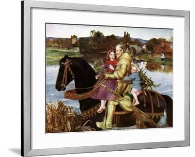 Sir Isumbras at the Ford, C19th Century-John Everett Millais-Framed Giclee Print