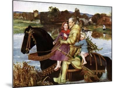 Sir Isumbras at the Ford, C19th Century-John Everett Millais-Mounted Giclee Print