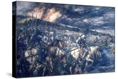 War: after the Battle, 1888-John Gilbert-Stretched Canvas Print