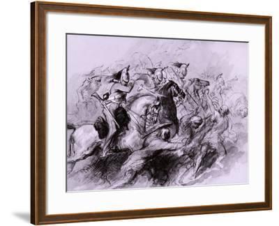A Cavalry Charge, 1849-John Gilbert-Framed Giclee Print